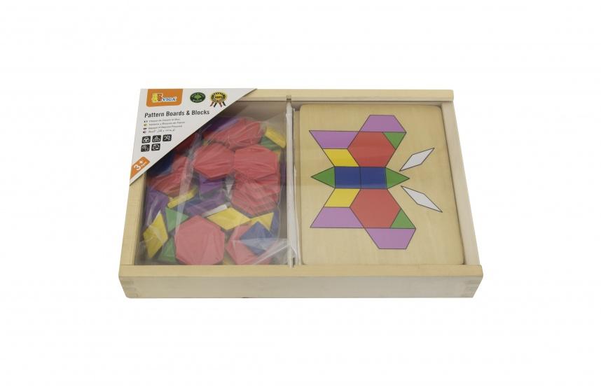Viga Toys mozaïekpuzzel 45 cm multicolor