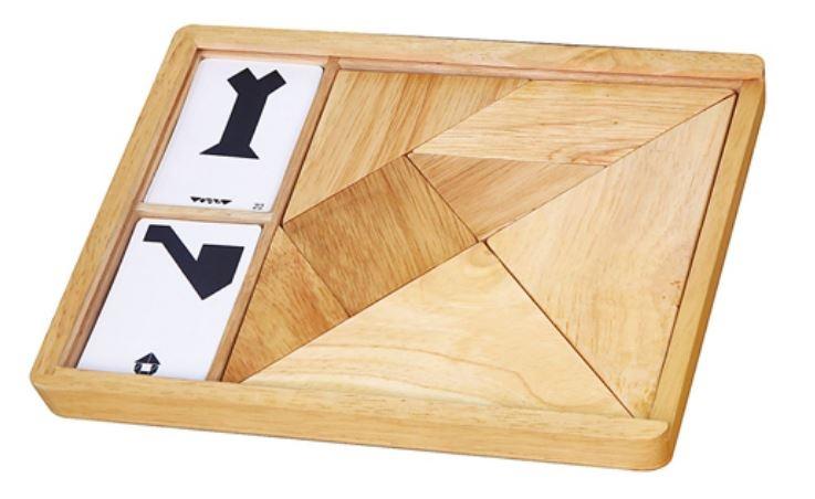 Viga Toys tangram vormenspel hout 7 delig