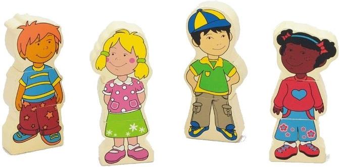 Viga Toys vormenpuzzel Kinderen junior hout 12 stukjes
