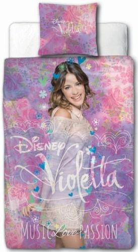 Disney Dekbedovertrek Violetta paars 140 x 200 cm