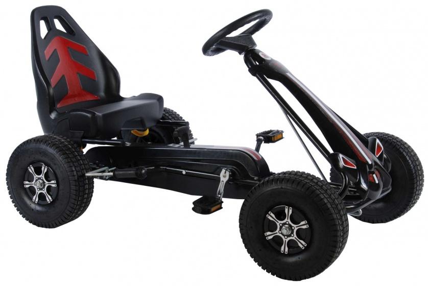 Volare Volare Go Kart Racing Car groot met luchtbanden