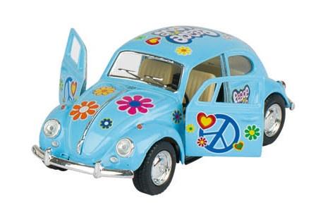 Goki Volkswagen Classic Beetle (1967) Blauw Met Print 13.5 cm