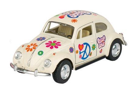 Goki Volkswagen Classic Beetle (1967) Wit Met Print 13.5 cm