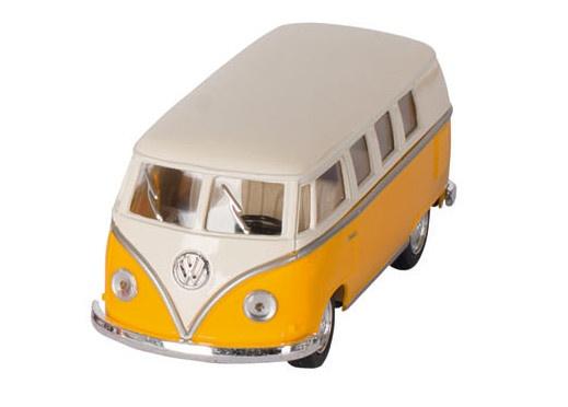 Goki Volkswagen Classic Bus Geel / Wit (1962) 13 cm