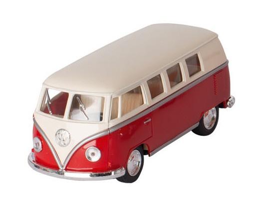 Volkswagen classical bus rood 1962 13 cm 104808