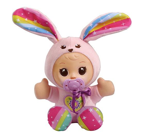 VTech knuffelpop konijn roze 26 cm