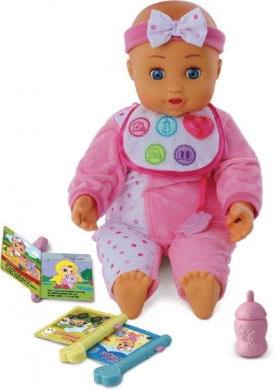 VTech Little Love babypop Eva's Eerste Woordjes 40 cm roze
