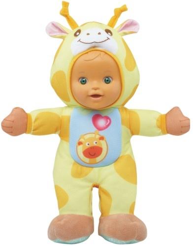 VTech Little Love knuffelpop giraffe 29 cm geel