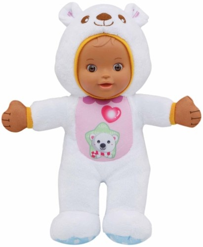 VTech Little Love knuffelpop ijsbeer 29 cm wit