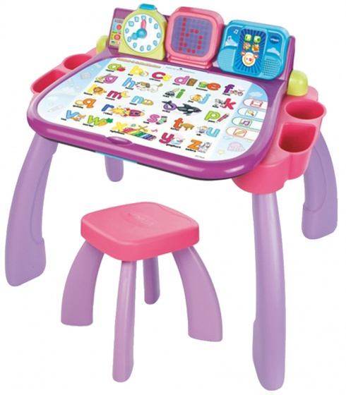 vtech mijn magisch bureau 3 in 1 paars roze internet toys. Black Bedroom Furniture Sets. Home Design Ideas