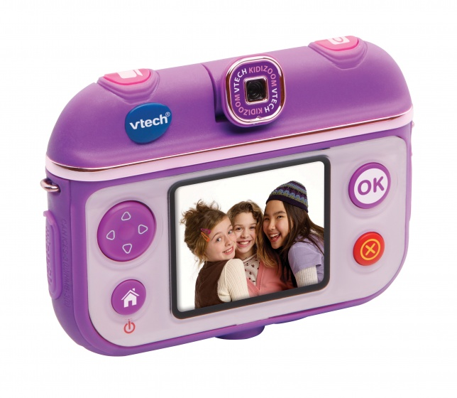 VTech selfie camera met stick junior paars