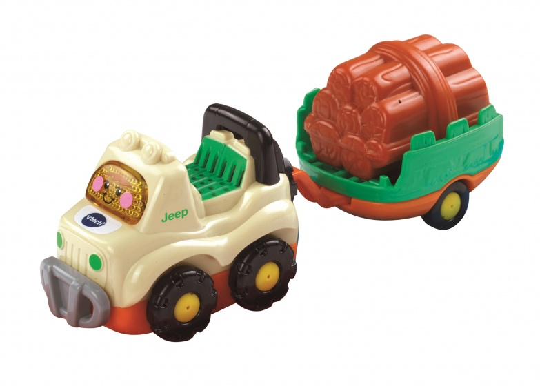 Vtech Toet Toet Auto's Jimmy Jeep & Aanhanger