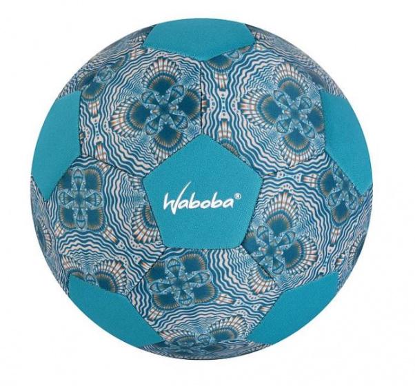Waboba mini strandvoetbal junior 200 mm rubber blauw