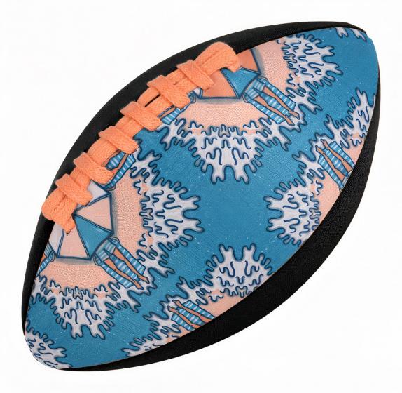 Waboba rugbybal Classic 22,8 cm rubber/lycra/spandex oranje