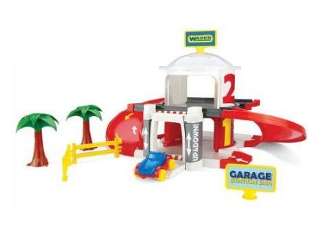 Wader speelgoed Garage met lift 2 levels