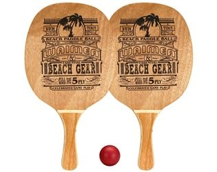 Waimea Beachball Set Houten Grip Rode Bal