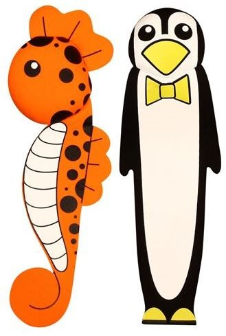 Waimea Duik Wimpels Zwembad Zeepaard en Pinguin 26cm