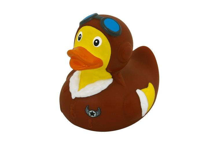 Waterworld Bathing Pilot rubber brown / yellow 8 cm - Internet-Toys