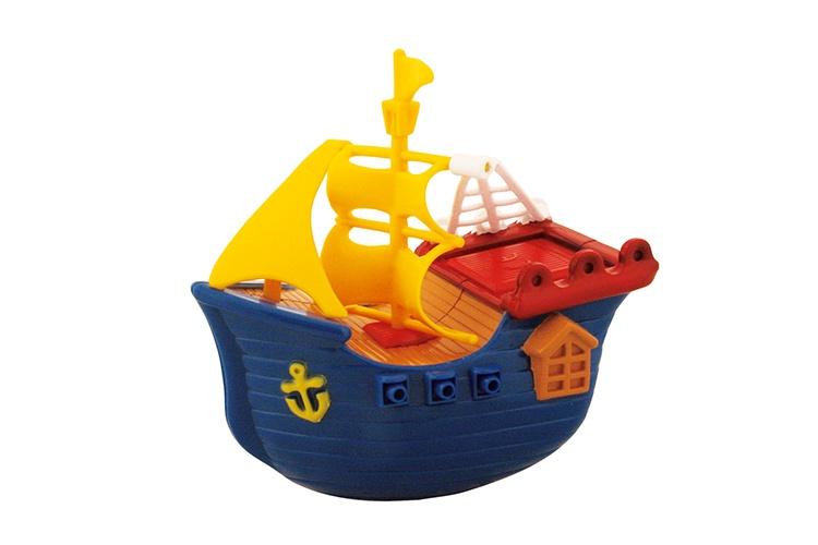 Waterworld Badfiguur Piratenboot blauw 13 cm
