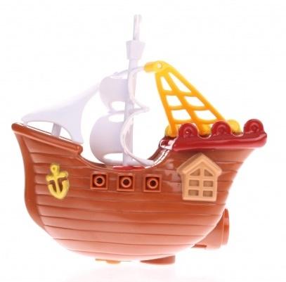 Waterworld Badfiguur Piratenboot bruin 13 cm