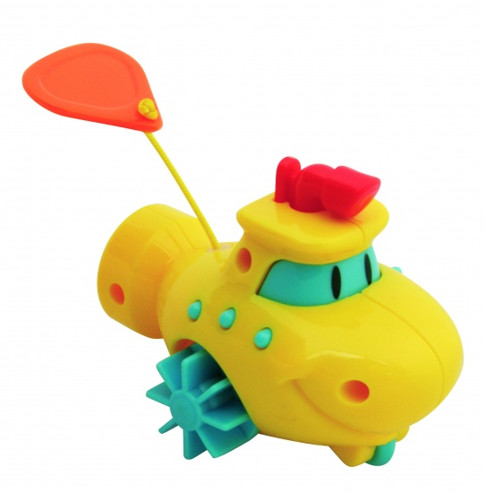 Waterworld Wind Up Bootje Mini Geel
