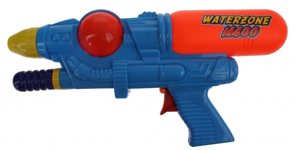 Waterzone Waterpistool M400 blauw 28 cm
