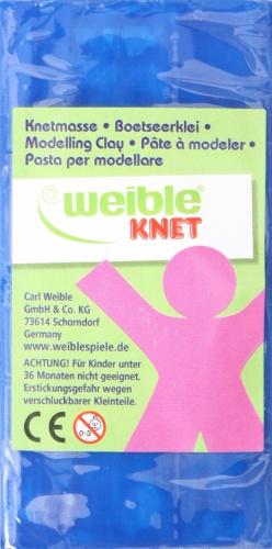Weible Knet Fantasie Klei Blokvorm 250 Gram Blauw