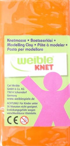 Weible Knet Fantasie Klei Blokvorm 250 Gram Oranje