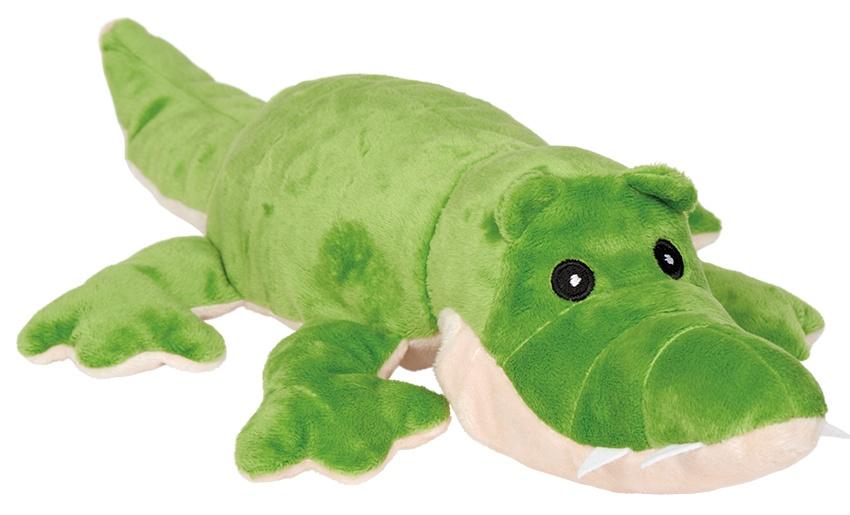 Welliebellies magnetronknuffel krokodil groot 35 cm groen