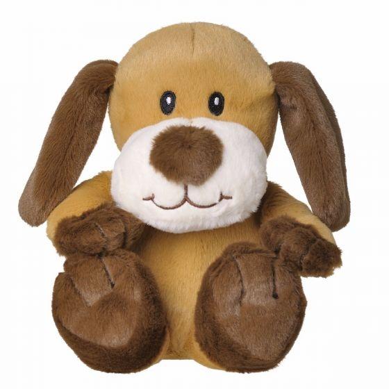 Welliebellies opwarmknuffel hond 20 cm bruin