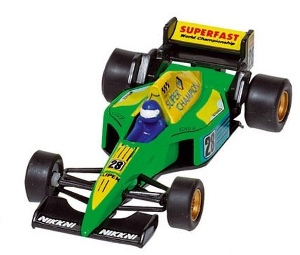 Welly Metalen Auto: Formule 1 Racer Groen 10,7 cm