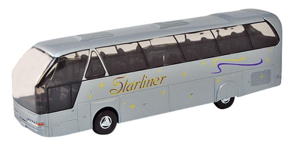 Welly Metalen Bus: Neoplan Starliner Coach Grijs