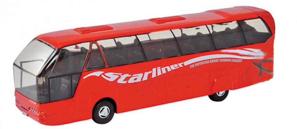 Welly Metalen Bus: Neoplan Starliner Coach Rood