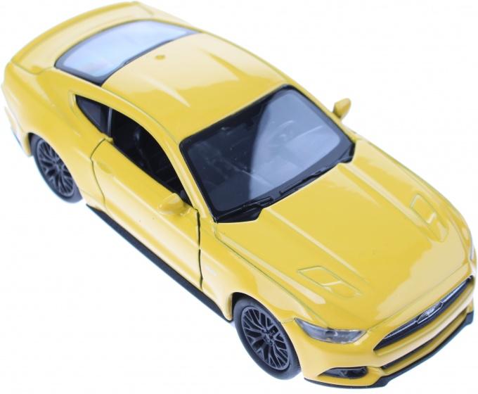 Welly metalen Ford Mustang 2015 geel 12 cm
