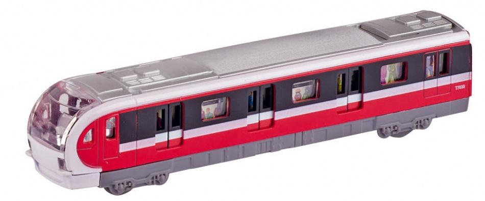 Goki Metalen Metro 18,4 cm Rood