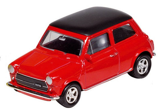 Welly Metalen Mini Cooper 1300: Rood 7 cm