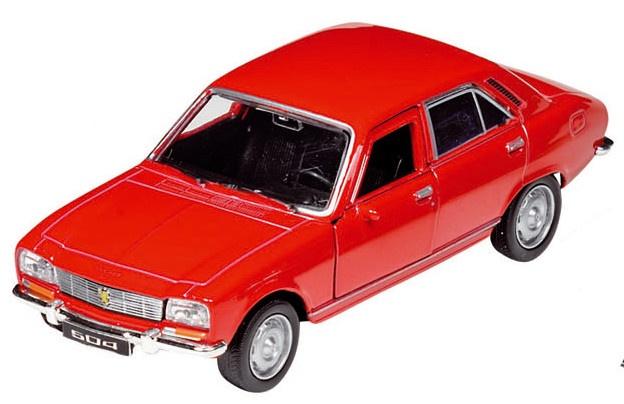 Welly Metalen Peugeot 504: 12 cm Rood