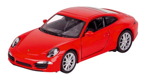 Welly Metalen Porsche 11,3 cm Rood