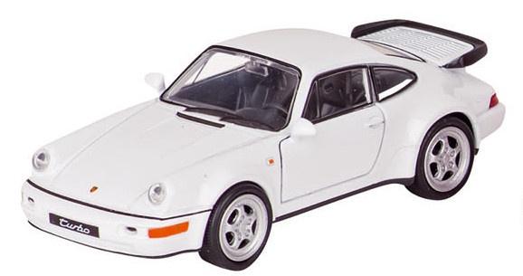 Welly Metalen Porsche 11,3 cm Wit Met Zwart