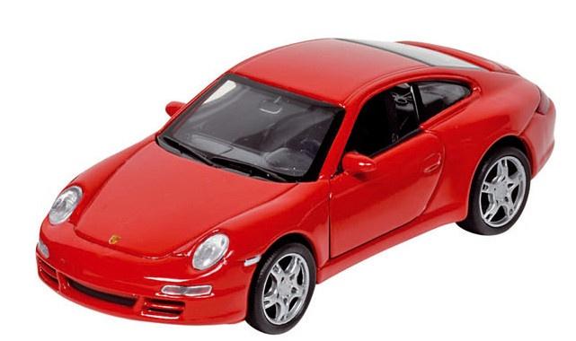 Welly Metalen Porsche 11,5 cm Rood