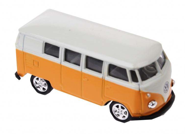 Welly metalen volkswagen bus 1962 geel 88990