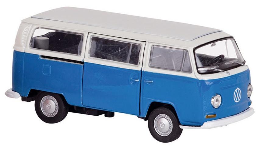 Welly Metalen Volkswagen Bus 1972: 11,6 cm Blauw