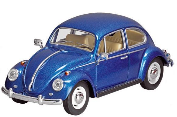 Goki Metalen Volkswagen Kever (1967): 17 cm Blauw