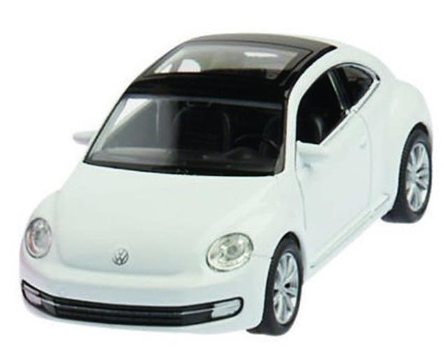 Welly Metalen Volkswagen Nieuwe Kever 2012: Wit 12 cm