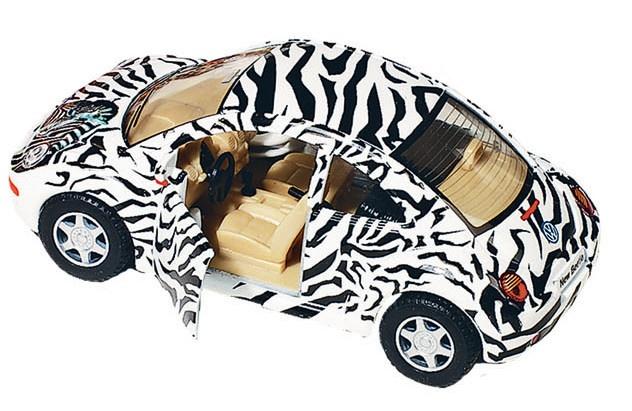 Goki Metalen Volkswagen Nieuwe Kever 2012: Zebra 12,7 cm