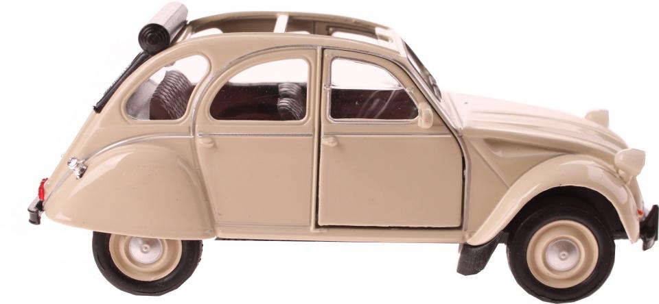 Welly schaalmodel Citroen 2CV cabrio beige 11,5 cm