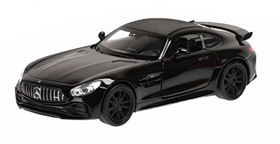 schaalmodel Mercedes AMG Gtr 12 cm staal zwart