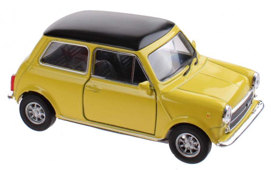 Welly schaalmodel Mini Cooper 1300 geel 10 x 5 x 4 cm