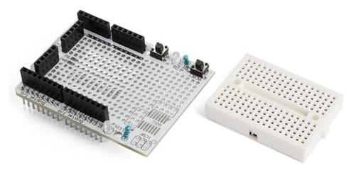 Whadda prototyping board ProtoShield 43 x 17 mm wit 2 delig