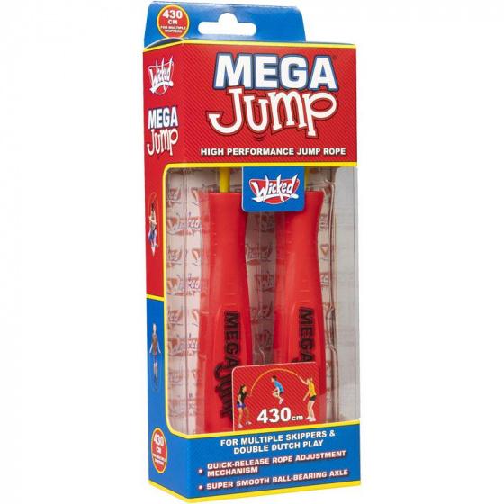 Wicked springtouw Mega Double Dutch junior 4,3 meter rood/geel